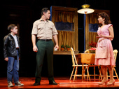 Hudson Loverro as Young Calogero, Richard H. Blake as Lorenzo and Lucia Giannetta as Rosina in A Bronx Tale.