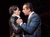 Bobby Conte Thornton as Calogero and Nick Cordero as Sonny  in A Bronx Tale.