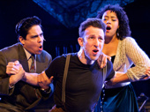 George Salazar as Michael, Nick Blaemire as Jon and Lilli Cooper as Susan in Tick, Tick...BOOM!.