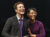 Justin Guarini as Trent and Telly Leung as Steven in In Transit.