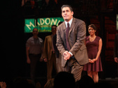 A Bronx Tale's Richard H. Blake takes in the crowd.
