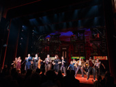 A round of applause for the doo-wopping dynamos of A Bronx Tale! The cast takes their curtain call.