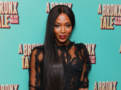 Super model Naomi Campbell works the red carpet.