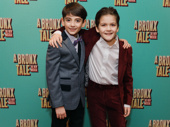 They may play little Calogero, but their performances are larger than life. Athan Sporek and Hudson Loverro snap a pic.