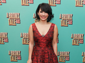 A Bronx Tale's Michelle Aravena rocks the red carpet.