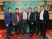 A Bronx Tale's gents: Joe Barbara, Michael Barra, Joey Sorge, Ted Brunetti and Charlie Marcus.