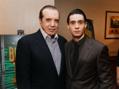 A Bronx Tale scribe Chazz Palminteri and star Bobby Conte Thornton celebrate their Broadway opening.