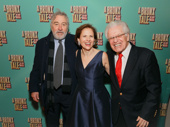 A Bronx Tale directors Robert De Niro and Jerry Zaks and Zaks' wife Faye Fisher are all smiles for opening night.
