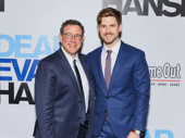Next to Normal reunion! Broadway fave Aaron Tveit supports Dear Evan Hansen director Michael Greif at his Broadway opening.