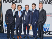 Opening night has finally arrived for Dear Evan Hansen's composer and lyricist Benj Pasek, music supervisor Alex Lacamoire, director Michael Greif, scribe Steven Levenson and composer and lyricist Justin Paul.