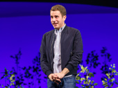 Dear Evan Hansen star Ben Platt takes a bow on opening night.