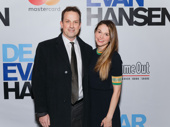Sweet Charity star Sutton Foster spends a night off with her husband Ted Griffin at Dear Evan Hansen's Broadway opening.