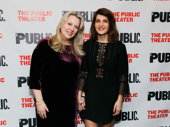 Tiny Beautiful Things scribe Cheryl Strayed and Nia Vardalos, who portrays her in the stage adaptation, get together on opening night.
