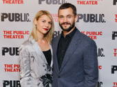 Acting couple  Claire Danes and Hugh Dancy attend the off-Broadway opening of Tiny Beautiful Things.