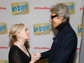 Double director/choreographers! Tony winner Tommy Tune congratulates In Transit director/choreographer Kathleen Marshall on her Broadway opening.