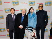 In Transit producer David Garfinkle, Tony-nominated composer and lyricist Frank Wildhorn, his wife Yōka Wao and Tony-winning director/choreographer Tommy Tune snap a pic.
