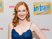 We're obsessed with Erin Mackey's opening night look! The In Transit star strikes a pose.