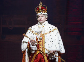 Rory O'Malley as King George in Hamilton.