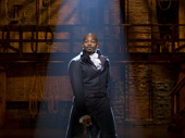 Brandon Victor Dixon as Aaron Burr in Hamilton.