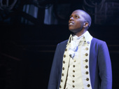 Leslie Odom Jr. as Aaron Burr in Hamilton.
