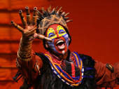 Tshidi Manye as Rafiki in The Lion King.