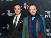 The Present's director John Crowley and scribe Andrew Upton take a photo on opening night.