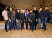 Time to make a cast album! A Bronx Tale's Bradley Gibson, Richard H. Blake, Ariana DeBose, lyricist Glenn Slater, composer Alan Menken, Lucia Giannetta, producer Tommy Mottola, scribe Chazz Palminteri, stars Bobby Conte Thornton and Nick Cordero snap a pic.