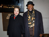 Tony winner Chuck Cooper and his wife Deborah Brevoort attend Jitney's Broadway opening night.