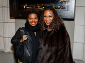 Once on This Island pals LaChanze and Kecia Lewis step out for Jitney's opening night.
