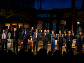 Bravo! The cast of Jitney takes their opening night curtain call.