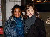 Pulitzer Prize-winning playwright and Sweat scribe Lynn Nottage and Sweat director Kate Whoriskey hit the Broadway opening night circuit.