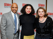 Jitney director Ruben Santiago-Hudson snaps a pic with August Wilson's daughter Azula Carmen Wilson and the late playwright's wife Constanza Romero.