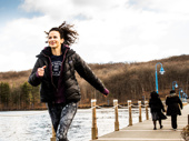 """My favorite way to exercise is running. There's this incredible lake near my house. It gets me centered for my day."""