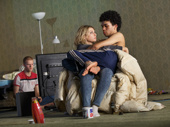 Lucas Hedges, Ari Graynor, and Justice Smith in Yen.