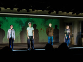 Yen's Stefanie LaVie Owen, Justice Smith, Lucas Hedges and Ari Graynor take their curtain call.