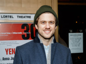 Broadway fave Aaron Tveit flashes a smile.