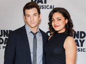 Groundhog Day stars Andy Karl and Barrett Doss snap a pic.
