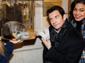 Um, is this groundhog aware that he's hanging with a two-time Tony nominee? Andy Karl makes a furry friend.
