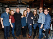 Welcome to Fleet Street! The cast of Sweeney Todd, including Matt Doyle, Alex Finke, Duncan Smith, Siobhán McCarthy, Jeremy Secomb, Betsy Morgan, Brad Oscar and Joseph Taylor, get together.