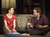 Maria Dizzia as Sharon Fischer and Jeremy Shamos as Michael Fischer in If I Forget.