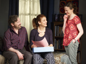 Jeremy Shamos as Michael Fischer, Kate Walsh as Holly Fischer and Maria Dizzia as Sharon Fischer in If I Forget.