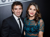 Theater couple Jarrod Spector and Kelli Barrett hit the red carpet.