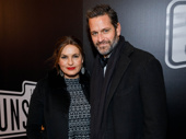 Acting couple Mariska Hargitay and Peter Hermann step out for Sunset Boulevard's Broadway opening.