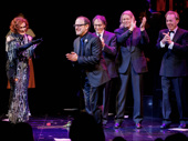 Sunset Boulevard's dream team hits the stage! Bravo to scribe Don Black, star Glenn Close, scribe Christopher Hampton, composer Andrew Lloyd Webber and director Lonny Price.