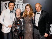 Sunset Boulevard's Michael Xavier, Glenn Close, Siobhan Dillon and Fred Johanson snap a pic.