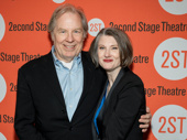 Annette O'Toole's husband Michael McKean, who will appear in The Little Foxes this spring, supports her on her opening night in Man from Nebraska.