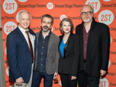 Happy opening, dream team! Man from Nebraska's Reed Birney, director David Cromer, Annette O'Toole and scribe Tracy Letts snap a group shot.