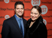 Pulitzer Prize and Tony winner Tom Kitt and his wife Rita Pietropinto attend Man from Nebraska's off-Broadway opening.