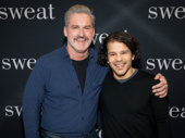 Sweat's James Colby and Carlo Alban take a pic.