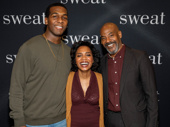 Sweat's Khris Davis, Michelle Wilson and John Earl Jelks are all smiles for their upcoming Broadway bow.